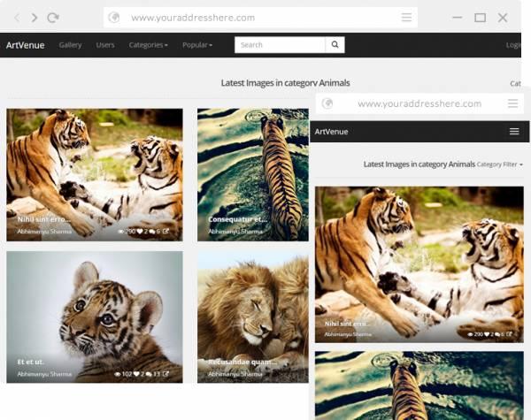 ArtVenue : Flickr, Dribbble, 500px, Photo Sharing Clone