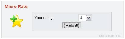 Micro Rate - basic and free rating script php script