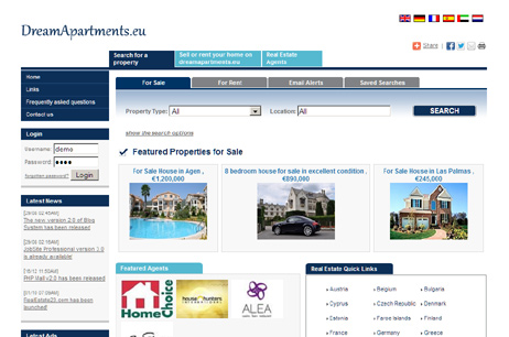 Real Estate Portal - Real Estate php script