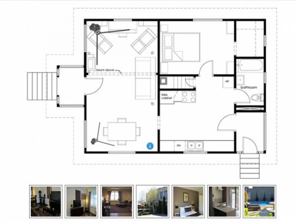 Interactive floor plan real estate php script for Interactive home plans