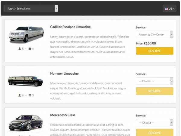 Limo Booking Software by PHPJabbers php script