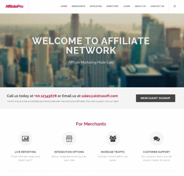 Affiliate Network Pro php script